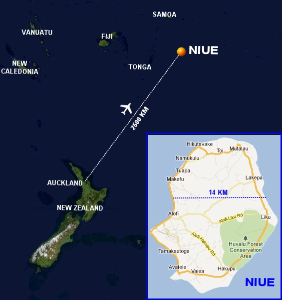 Trip To Niue An Amazing Coralline Atoll In The South Pacific - Niue map