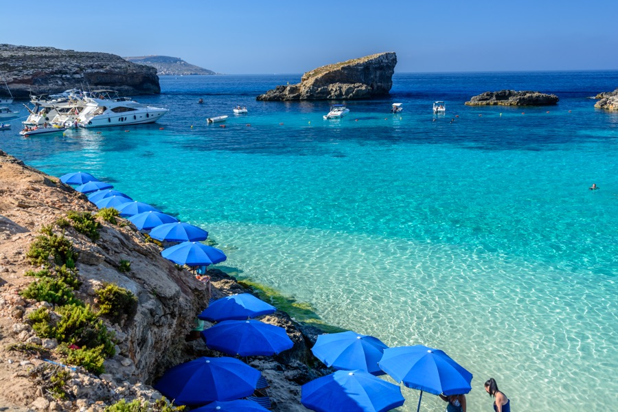 Day Trip To Comino Malta By Private Boat From Gozo
