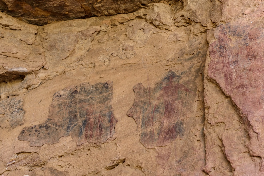 Modern Pertoglyph Art On Sandstone