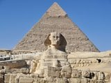Pyramid and Sphynx in Egypt